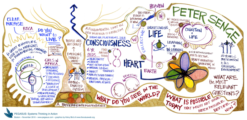 Peter Senge, Consciousness and Life